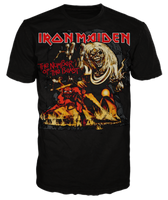 "Iron Maiden ""The Number of The Beast"" Orange Print Men's T-Shirt"