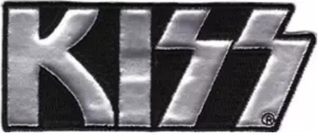 Kiss Chrome Logo Patch