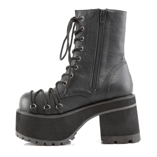 "Ranger-208 Vegan Leather 3 3/4"" Heel Lace-Up Ankle Boot"