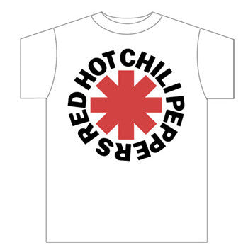 Red Hot Chili Peppers Asterisk Logo White T-Shirt