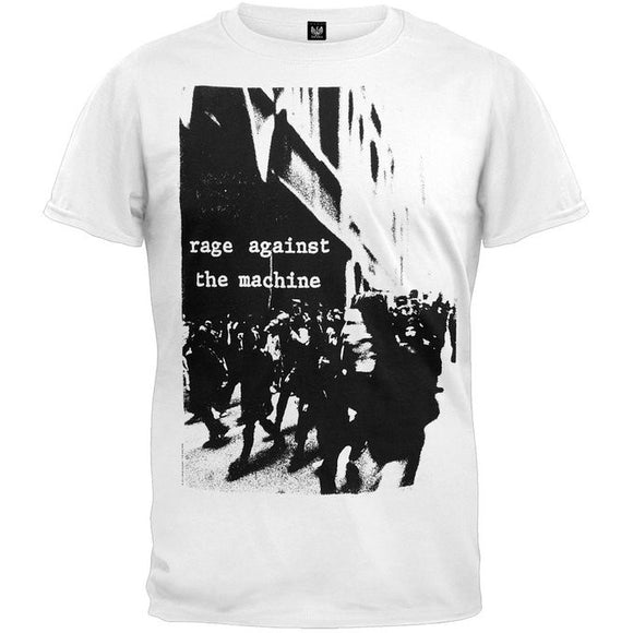 Rage Against The Machine Riot Soft White T-Shirt