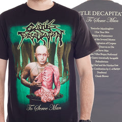 "Cattle Decapitation ""To Serve Man"" Men's Tee w/ Back Print"