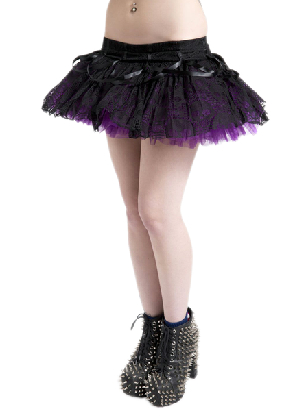 Purple Skull Lace Tutu Skirt (Jawbreaker)
