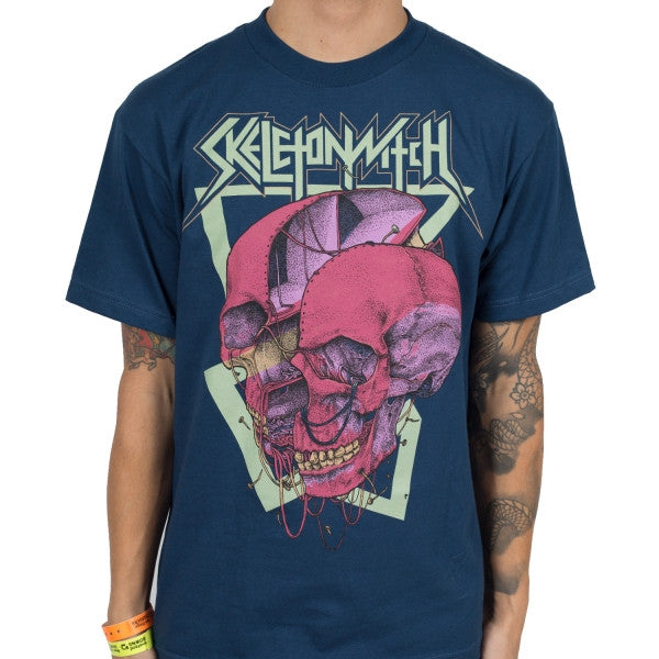Skeletonwitch Split Skull Blue T-Shirt