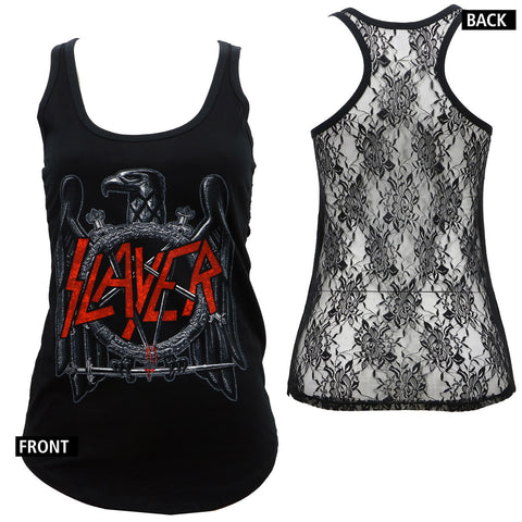 Slayer Classic Eagle Lace Tank Top for Women (Global)