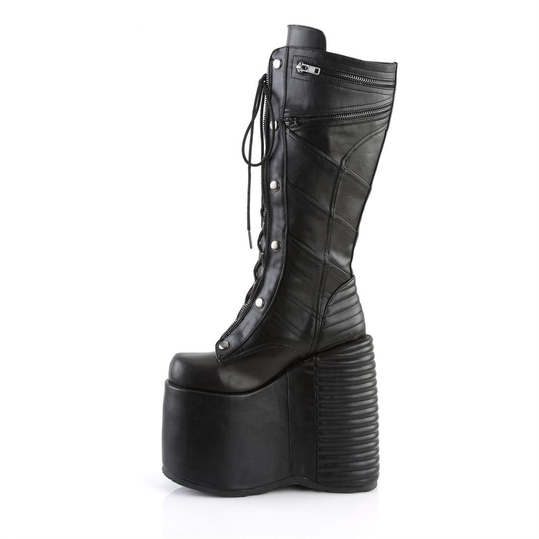 "Slay-320 Vegan Leather 7"" Platform Knee High Boot"