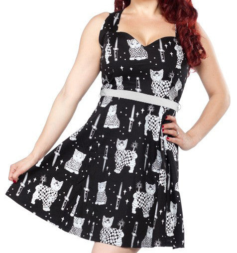 Sourpuss Sad Gato Floozy Dress