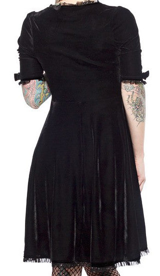 Sourpuss Black Velvet Vivienne Dress