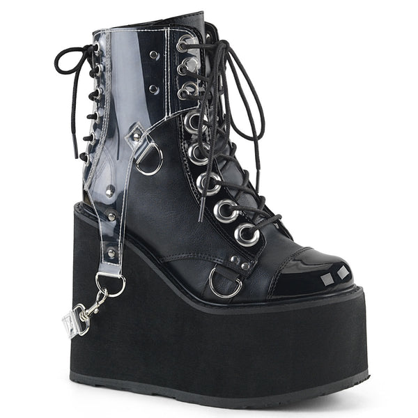 "Swing-115 Vegan Leather PVC Harness 5 1/2"" Platform Boot"