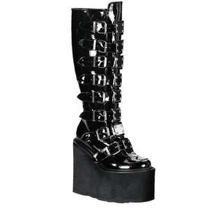 "Swing-815 Vinyl 5 1/2"" Wedge Platform Gogo Knee Boot"