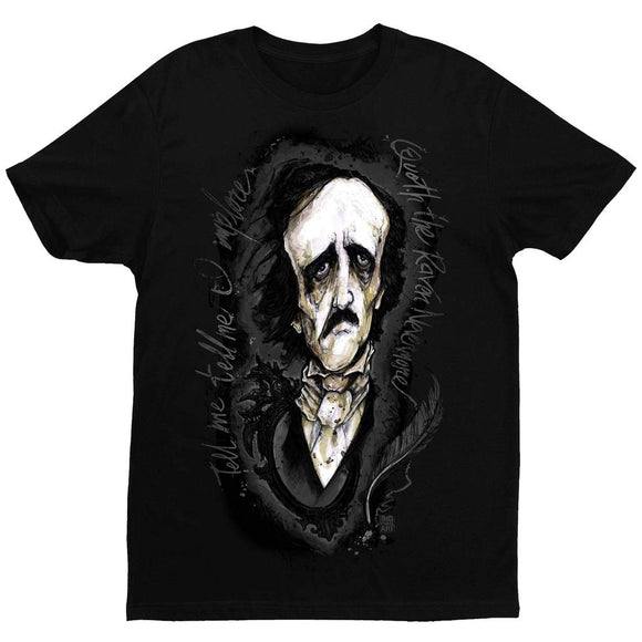 Edgar Allan Poe T-Shirt by Big Chris