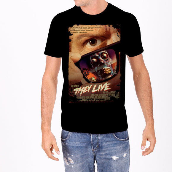 They Live Movie Poster Men's T-Shirt