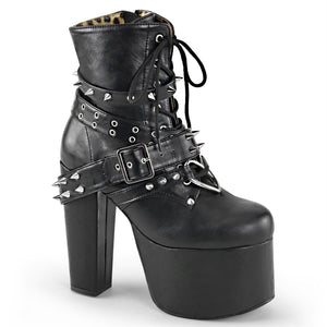 "Torment-700 Vegan Leather Spiked 5 1/2"" Heel Boot"