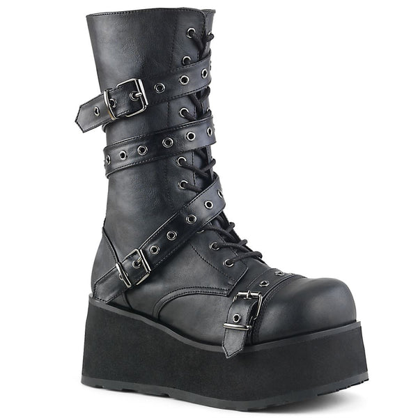 "Trashville-205 Vegan Leather 3 1/4"" Platform Calf Boot"