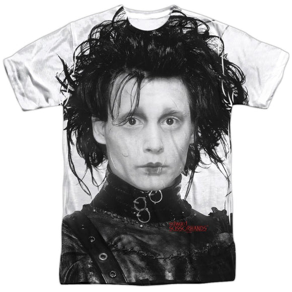Edward Scissorhands Heads Up White T-Shirt