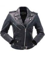 Load image into Gallery viewer, Lambskin Leather MC Jacket