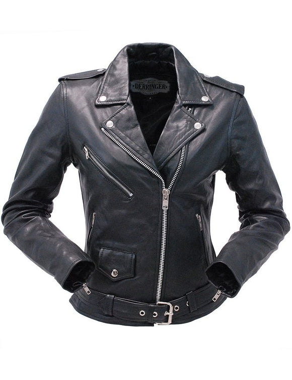 Lambskin Leather MC Jacket