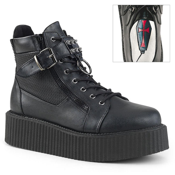 "Creeper-566 Vegan Leather Lace-Up Oxford 2"" Creeper Boot"