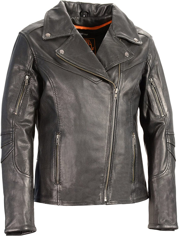 Lightweight Long Length Vented Leather Jacket