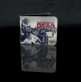 Zombie Mohawk Walking Dead Men's Bi-Fold Wallet