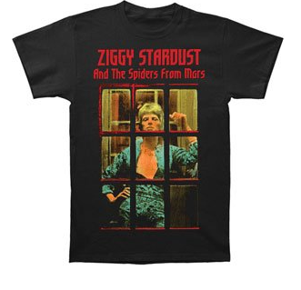 David Bowie The Rise and Fall of Ziggy Stardust and the Spiders from Mars Men's Tee
