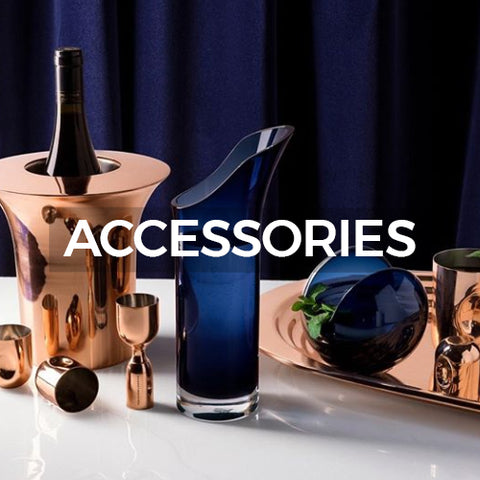 This image containing the Plum Barware takes you to a page of Accessories by Tom Dixon