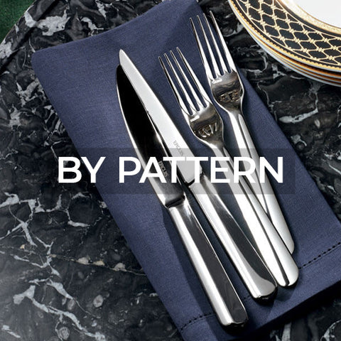 When clicked link takes customer to a page of flatware patterns by Ercuis