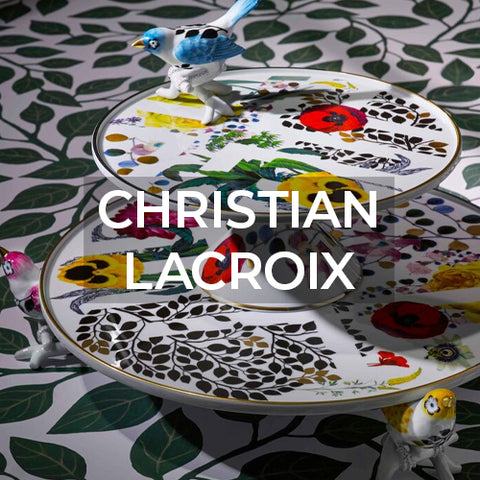 when clicked takes customer to the Christian Lacroix brand page on Amusespot