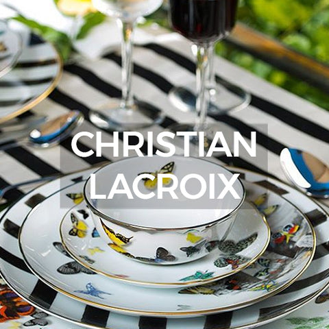 When clicked this iage of dinnerware takes you to a page of dinnerware designed by Christian Lacroix