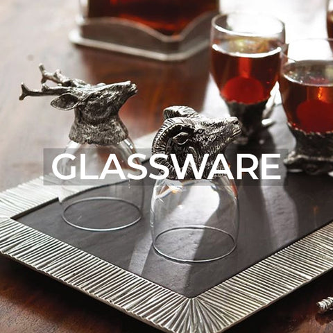 when clicked takes you to a page of glassware collections by Arte Italica