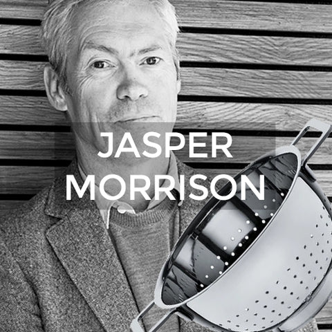 when clicked takes customer to a page of products designed by Jasper Morrison for Alessi