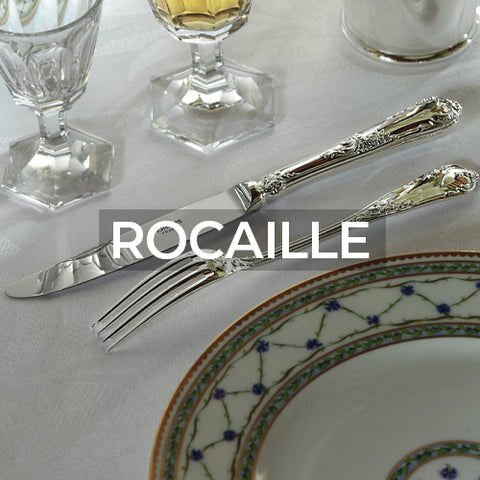 when clicked takes customer to a page of material options for the Rocaille pattern from Ercuis