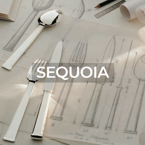 When clicked link takes customer to a page with all three variant collections of Sequoia Flatware by Ercuis