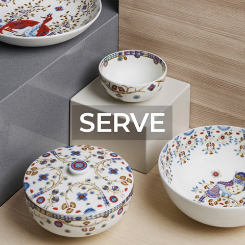 link takes customer to a page of serveware collections by Iittala