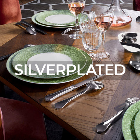 When clicked link takes customer to a page of Silverplated flatware collections by Ercuis