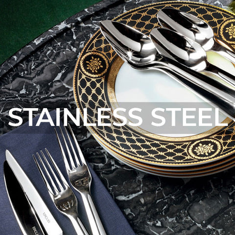 When clicked link takes customer to a page of Stainless Steel flatare collections by Ercuis
