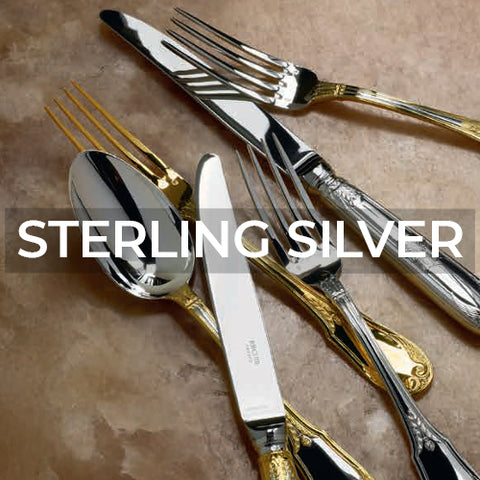 When clicked takes customer to a page of sterling silver flatware collections by Ercuis
