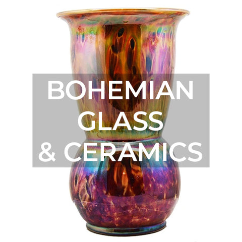 When clicked takes customer to a page of Bohemian glass and ceramics