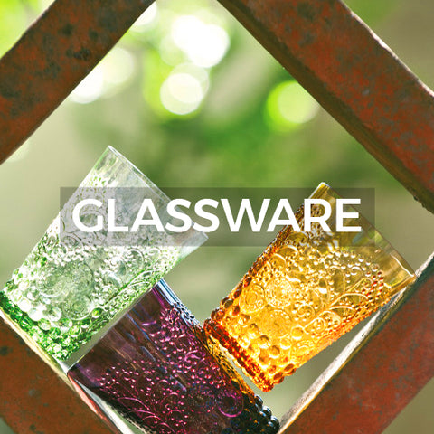 image of glasses from tree collection  will take you to a page of different glassware collections when clicked