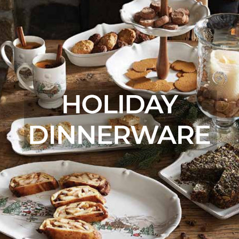 link takes customers to a page of holiday dinnerware collections by Juliska