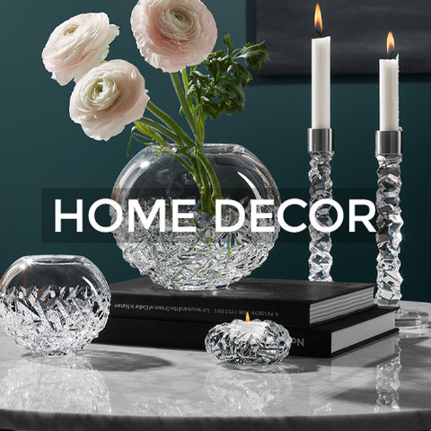 Link takes customer to a page of Home Decor collections by Orrefors