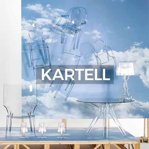 When clicked takes customer to the brand page of Kartell