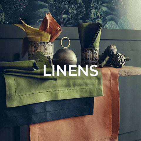 when clicked takes customer to a page of kitchen linen product collections offered by Amusespot