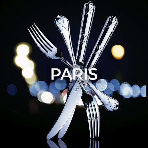 when clicked takes customer to a page of flatware material options for the Paris pattern by Ercuis