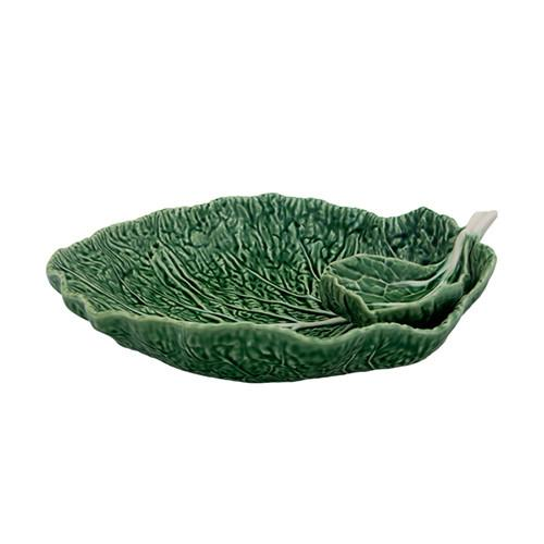 Cabbage Chip and Dip Bowl by Bordallo Pinheiro