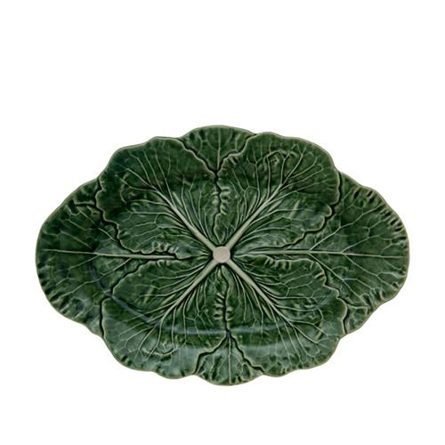 "Cabbage Oval Platter, 17"" by Bordallo Pinheiro"