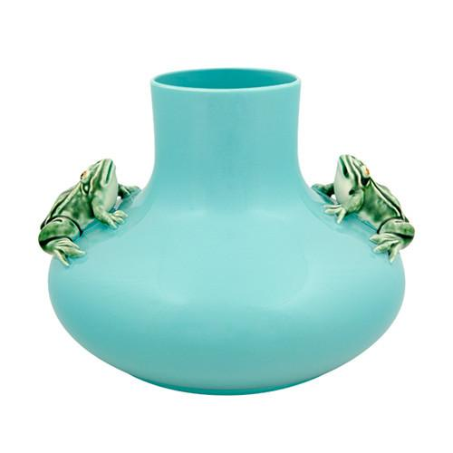 "Large Frog Vase, 12,2"" by Bordallo Pinheiro"