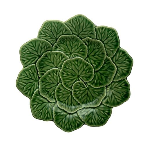 "Geranium Dessert or Salad Plate, 8.6"" by Bordallo Pinheiro"