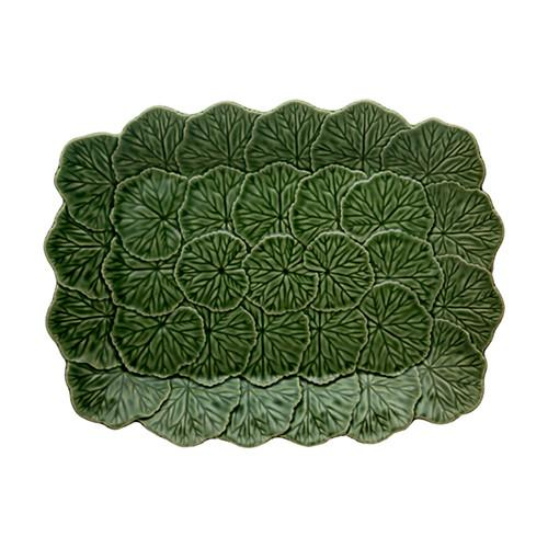 Geranium Relief Platter by Bordallo Pinheiro