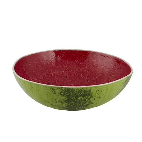 "Watermelon Salad Bowl, 14"" by Bordallo Pinheiro"
